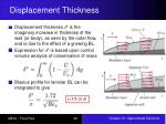 displacement thickness