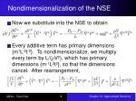 nondimensionalization of the nse3
