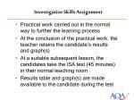 investigative skills assignment