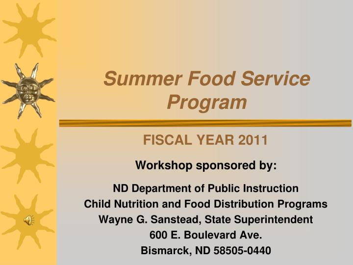 summer food service program n.