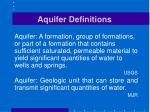aquifer definitions