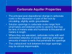 carbonate aquifer properties