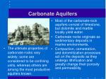 carbonate aquifers