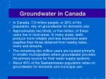 groundwater in canada