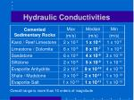 hydraulic conductivities1