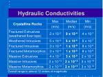 hydraulic conductivities2