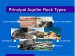 principal aquifer rock types