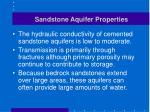sandstone aquifer properties