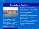 sandstone aquifers