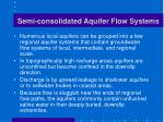 semi consolidated aquifer flow systems