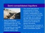 semi consolidated aquifers
