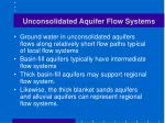 unconsolidated aquifer flow systems