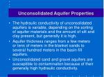 unconsolidated aquifer properties
