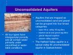 unconsolidated aquifers