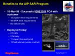 benefits to the aip sar program