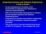 integrating systems and software engineering a call to action
