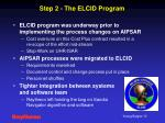 step 2 the elcid program