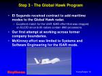 step 3 the global hawk program