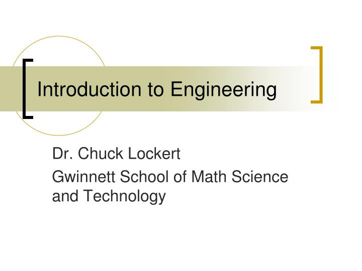 introduction to engineering n.