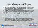 lake management history