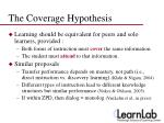 the coverage hypothesis