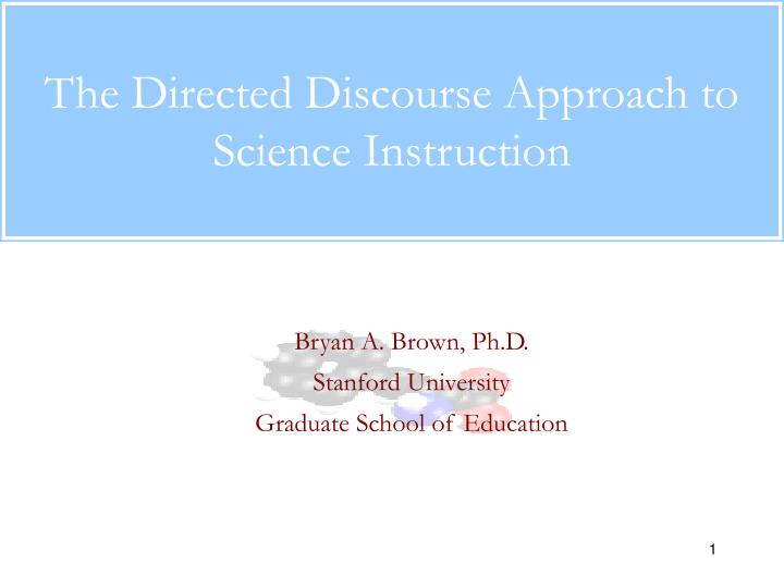 the directed discourse approach to science instruction n.