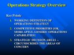 operations strategy overview