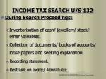 income tax search u s 1325