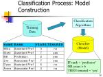 classification process model construction