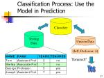 classification process use the model in prediction