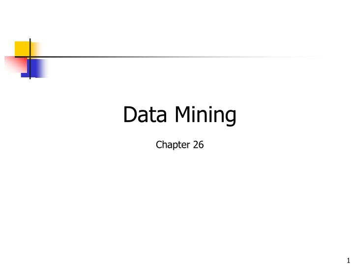 data mining chapter 26 n.