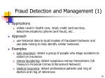 fraud detection and management 1