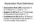 association rule definitions1