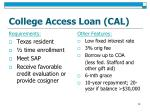 college access loan cal