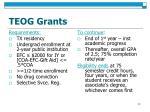 teog grants