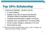 top 10 scholarship