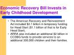 economic recovery bill invests in early childhood development