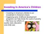 investing in america s children