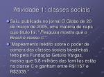 atividade 1 classes sociais