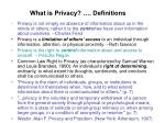 what is privacy definitions