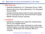 d base flow of rivers and streams in the state