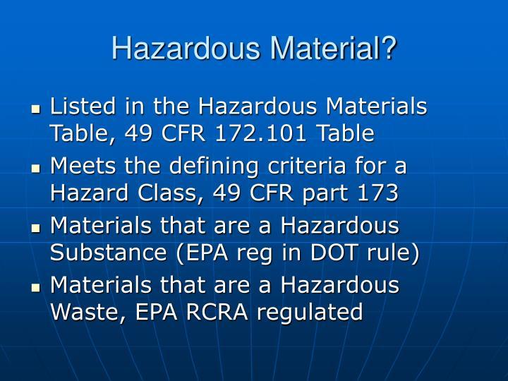 hazardous material n.