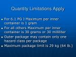 quantity limitations apply