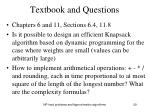 textbook and questions1
