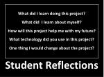 student reflections