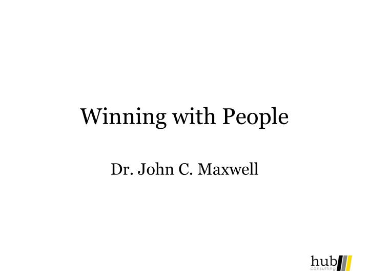 winning with people n.