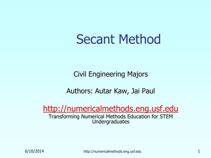 secant method n.