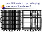 how fim relate to the underlying structure of the dataset