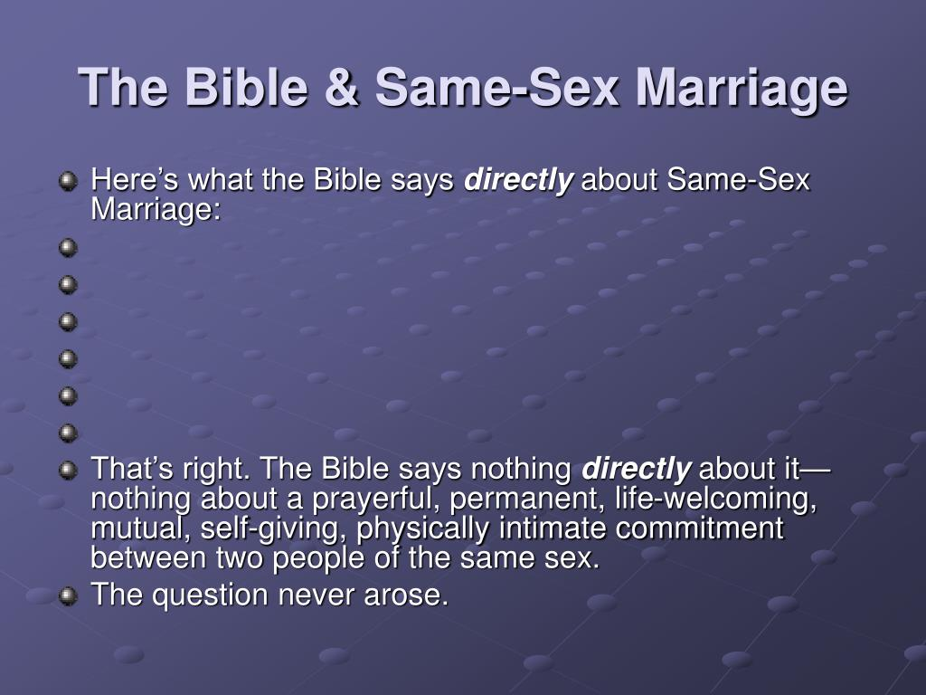 Same sex marriage and the bible pic 6