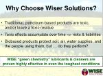 why choose wiser solutions
